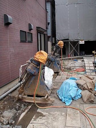 建物修正(地盤改良リフトアップ)